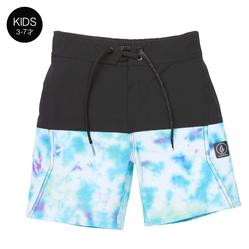 【WINTER SALE 30%OFF】 VOLCOM ボルコム キッズ(3-7才) ボードショーツ 水着 Y0811833 Vibes Elastic Little Youth