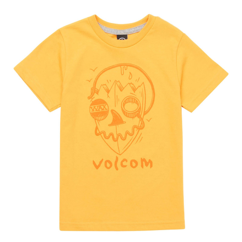 【50%OFF】 VOLCOM ボルコム ボーイズ(8-14才) Tシャツ 半袖 C3521836 Surf Skull S/S Tee Youth [TAG]
