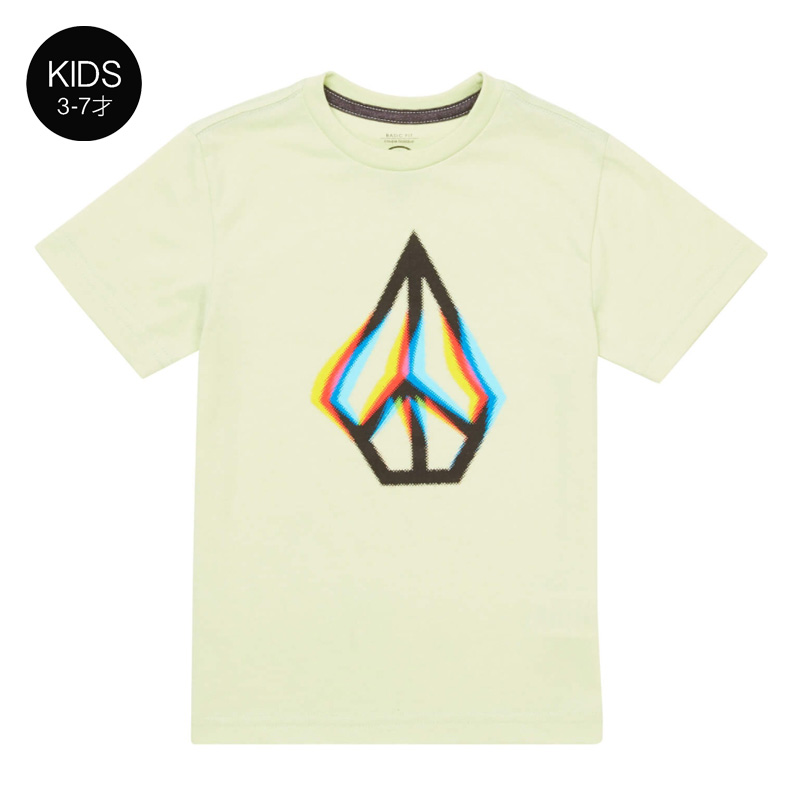 【WINTER SALE 20%OFF】 VOLCOM ボルコム キッズ(3-7才) Tシャツ 半袖 Y5721831 Peace Blur S/S Tee Little Youth