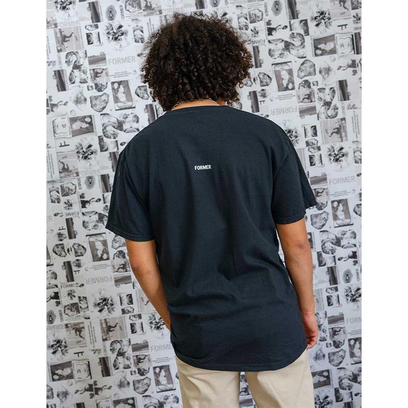 FORMER フォーマー メンズ Tシャツ 半袖 TE21202 FRAGILE T-SHIRT [BLACK]
