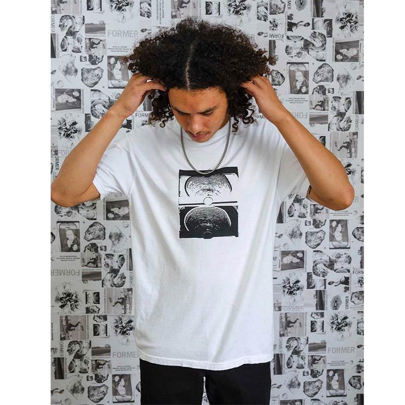 FORMER フォーマー メンズ Tシャツ 半袖 2195 CRUX TEE [WHT/BLK]