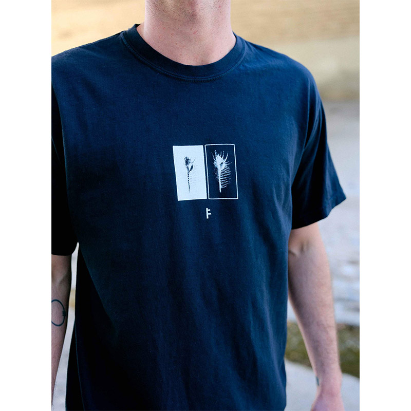 FORMER フォーマー メンズ Tシャツ 半袖 2188 HYMM TEE [BLK/WHT]