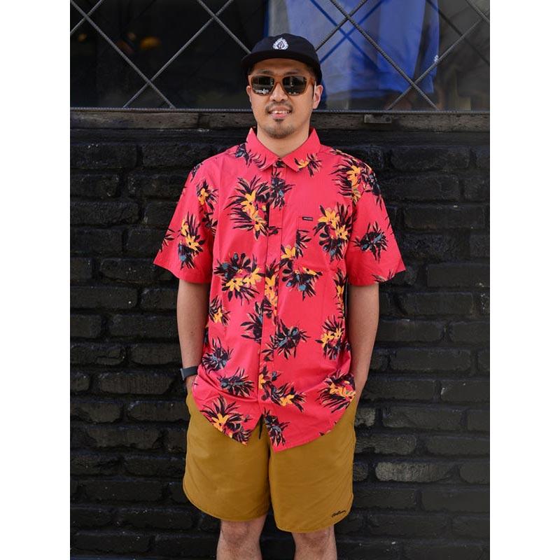 VOLCOM ボルコム メンズ 半袖シャツ ショートスリーブシャツ A0412112 Floral With Cheese [CMR]