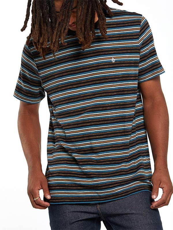 VOLCOM ボルコム メンズ モダンフィットボーダーTシャツ 半袖 A0132001 Moorley Crew S/S
