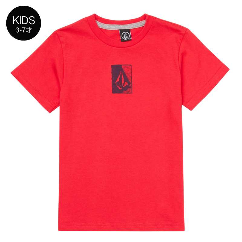 【WINTER SALE 30%OFF】 VOLCOM ボルコム キッズ(3-7才) Tシャツ 半袖 Y3521800 Half Tone S/S Tee Little Youth
