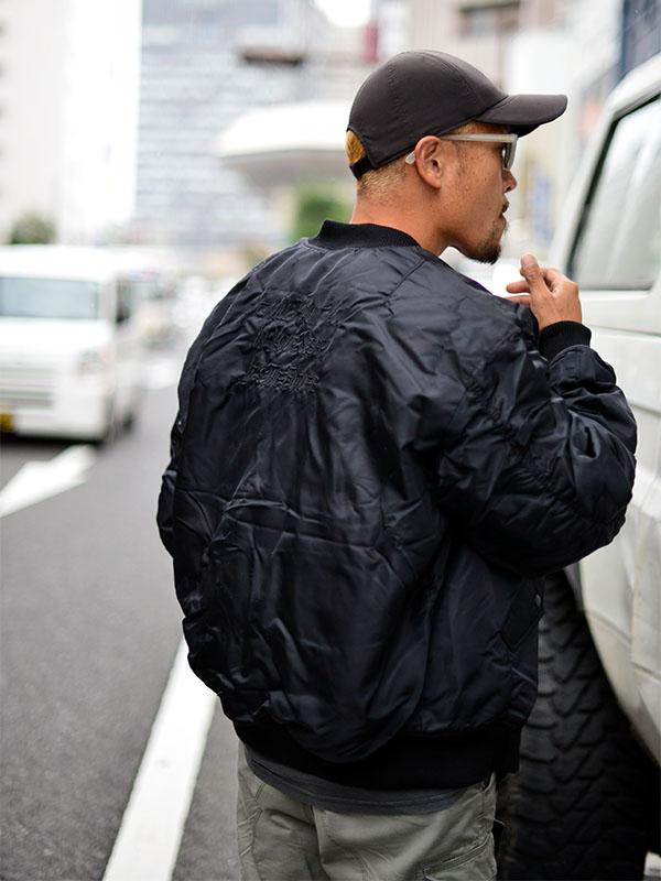 VOLCOM ボルコム メンズ リバーシブルMA1ジャケット フライトジャケット A1732050 Greenfuzz Jacket
