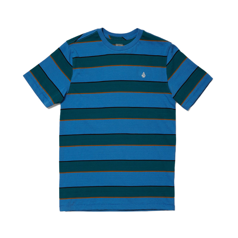 VOLCOM ボルコム ボーイズ(8-14才) ボーダーTシャツ C0112104 Keates Stripe Crew S/S Youth [BPB]