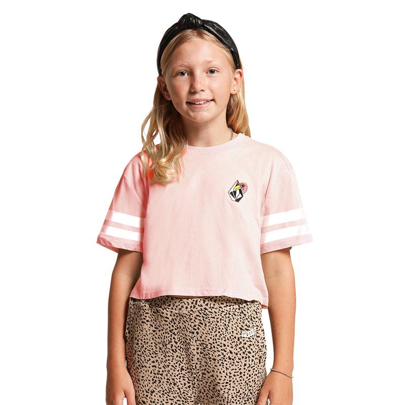 【30%OFF】 VOLCOM ボルコム ガールズ(8-14才) Tシャツ 半袖 R3512103 Truly Stoked Tee Girls [PNK]