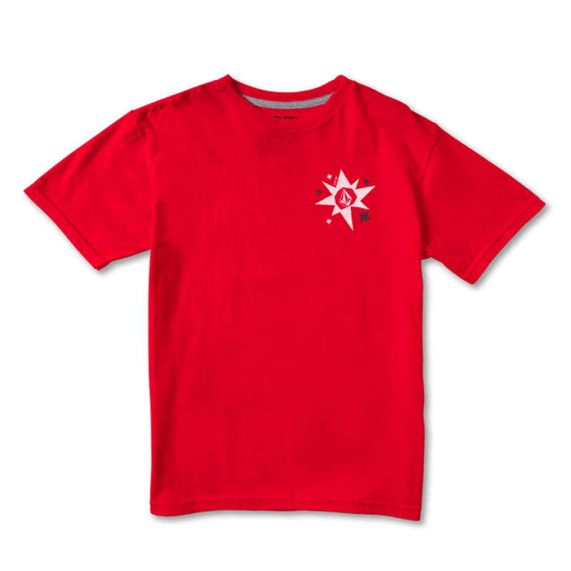 【30%OFF】 VOLCOM ボルコム キッズ(3-7才) Tシャツ 半袖 Y3522101 Morter S/S Tee Little Youth [RED]