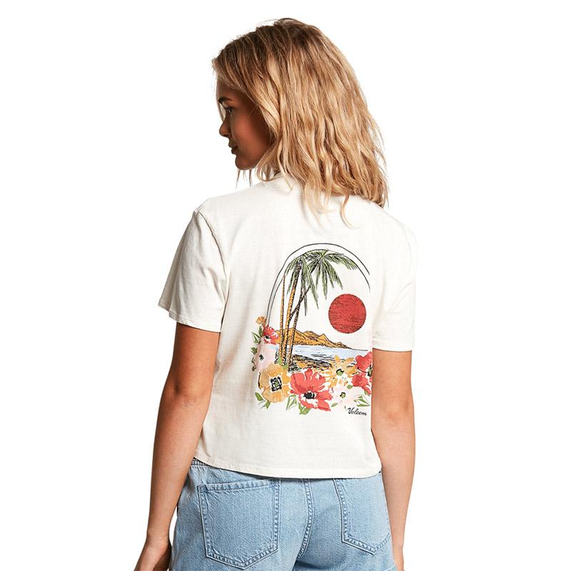 VOLCOM ボルコム レディース クロップドポケットTシャツ B3512103 Pocket Dial Tee [SWH]