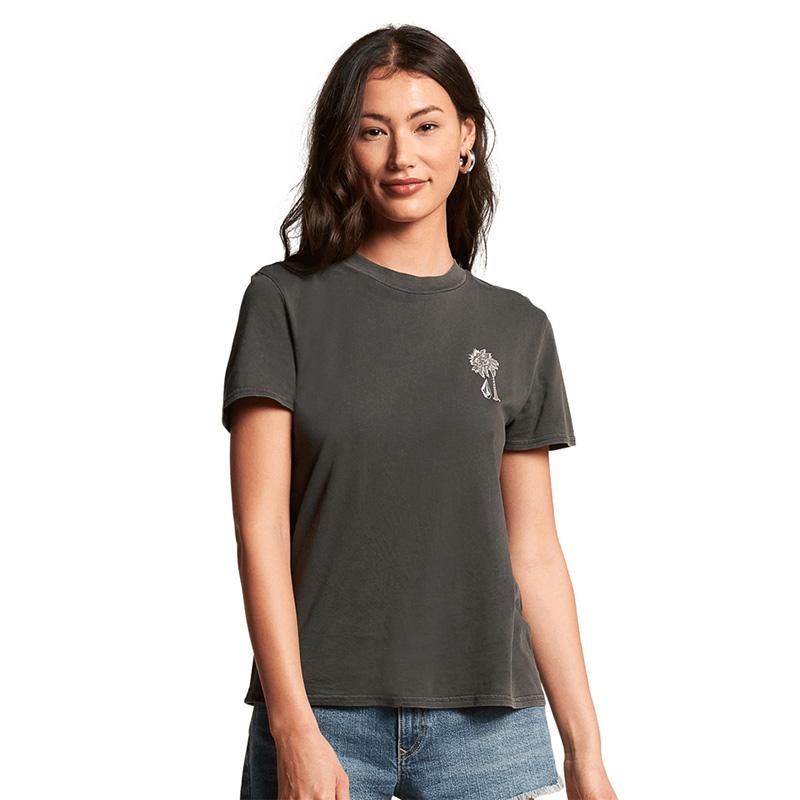 VOLCOM ボルコム レディース Tシャツ B3512102 Lock It Up Tee [BLK]