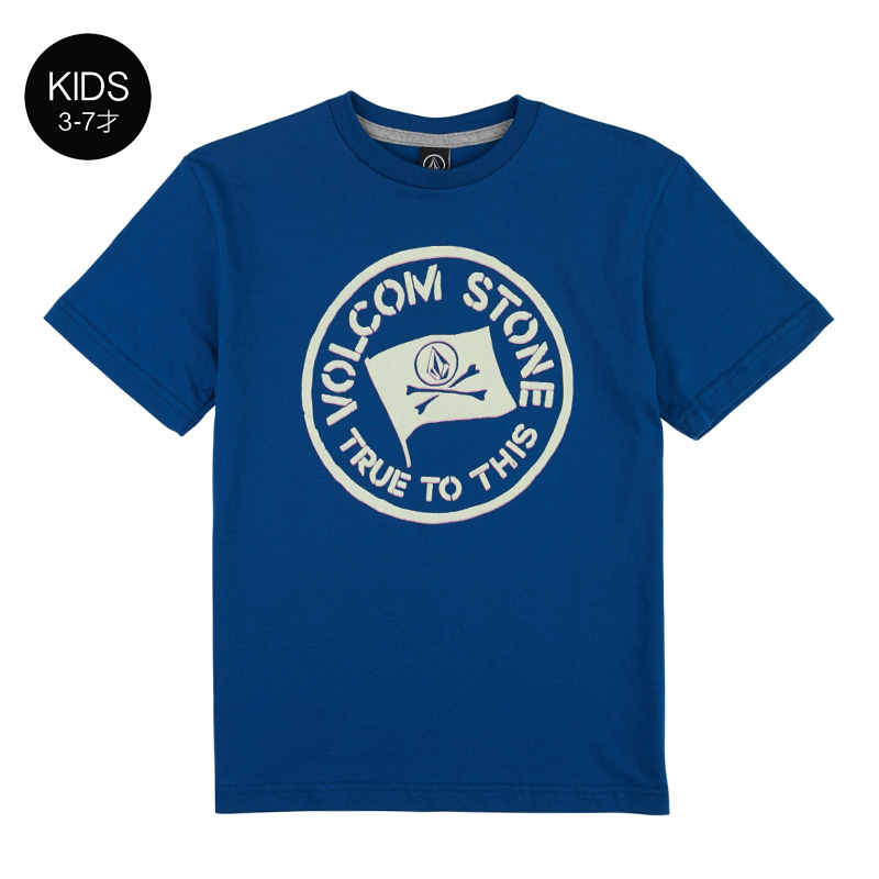 【WINTER SALE 20%OFF】 VOLCOM ボルコム キッズ(3-7才) Tシャツ 半袖 Y3511831 Jolly Rebel S/S Tee Little Youth