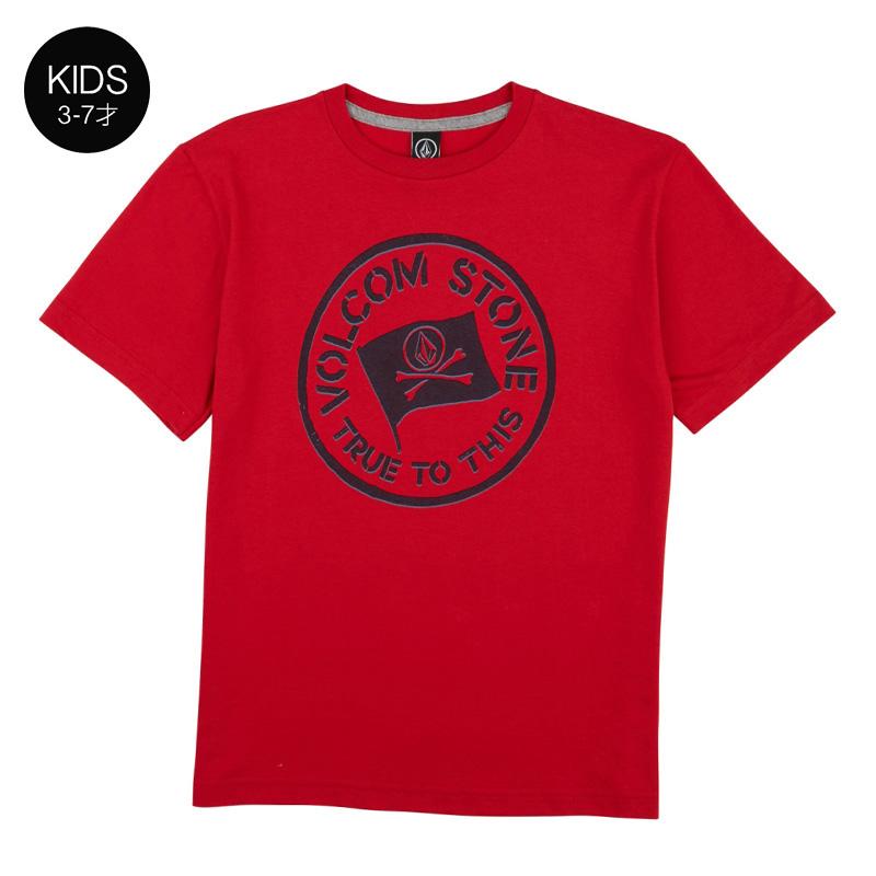 【WINTER SALE 20%OFF】 VOLCOM ボルコム キッズ(3-7才) Tシャツ 半袖 Y3511831 Jolly Rebel S/S Tee Little Youth