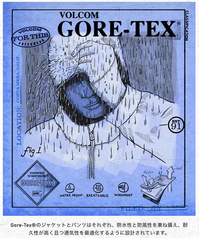 VOLCOM ボルコム メンズ スノーボードウェア ジャケット G0652101 Guide GORE-TEX Jacket