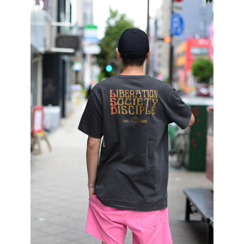 VOLCOM ボルコム メンズ モダンフィットTシャツ 半袖 A5212103 Psychonic S/S Tee [BLK]