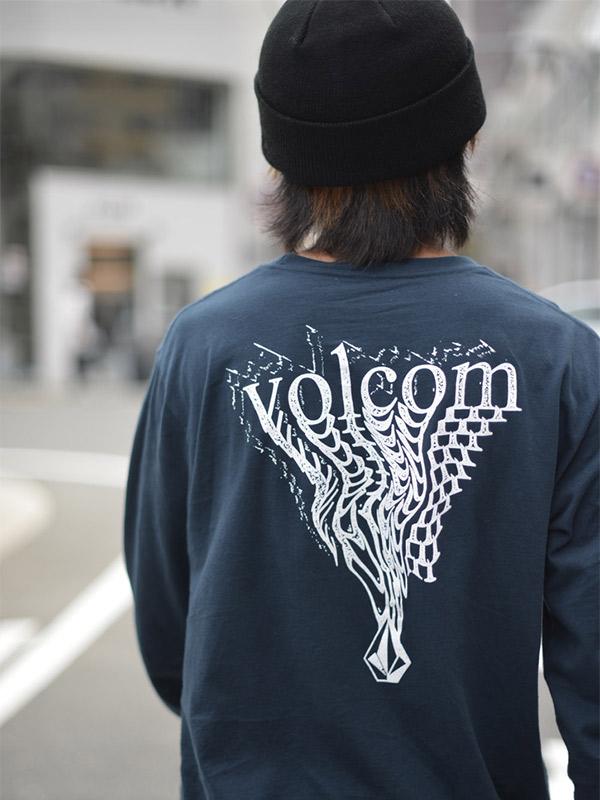 VOLCOM ボルコム メンズ ロングスリーブTシャツ ロンT A3632102 Burgoo L/S Tee [NVY]