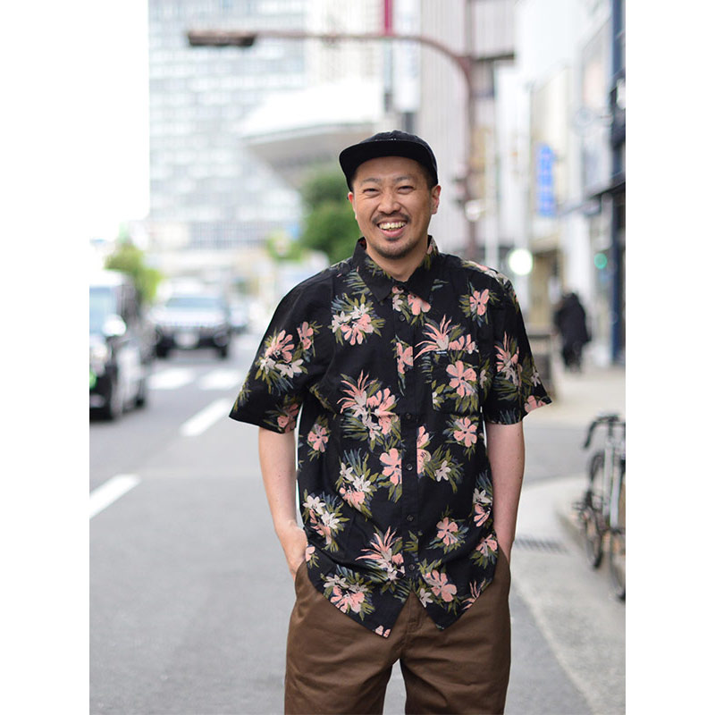 VOLCOM ボルコム メンズ 半袖シャツ ショートスリーブシャツ A0412112 Floral With Cheese [BLK]