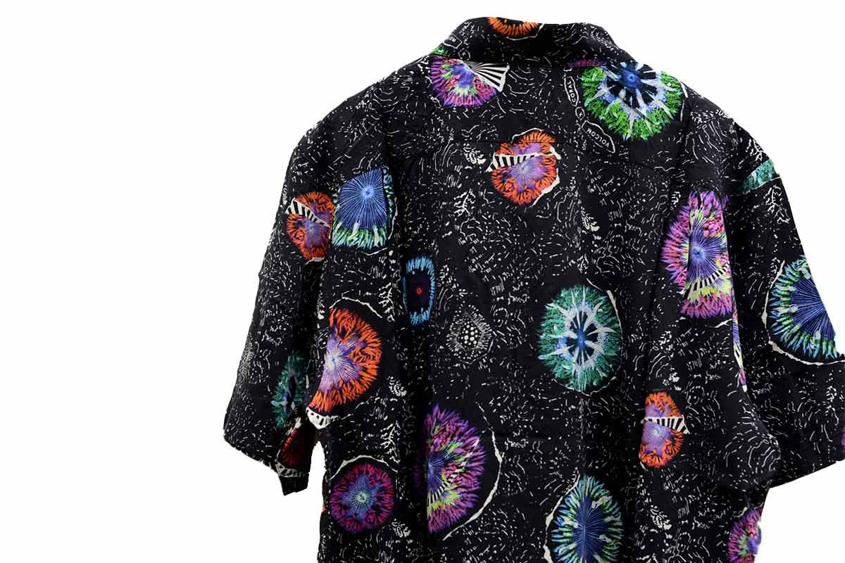 VOLCOM ボルコム メンズ 半袖シャツ アロハシャツ A0412110 Coral Morph S/S [BLK]