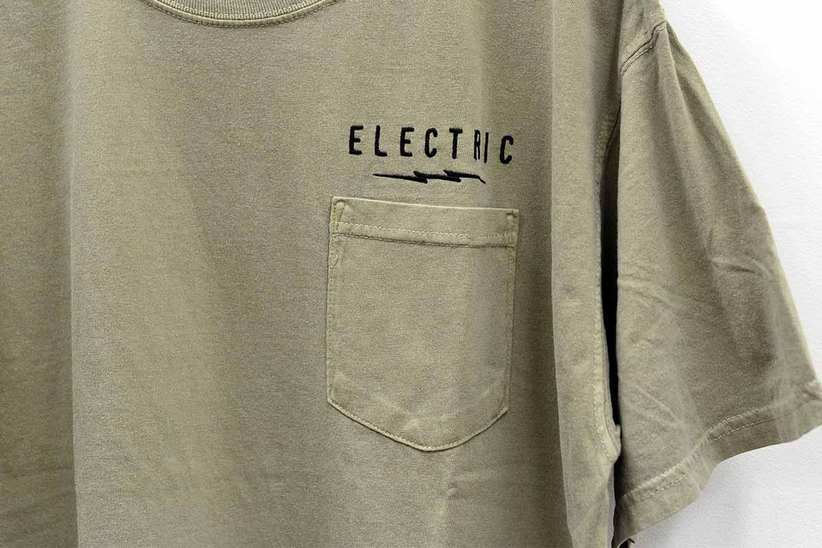 ELECTRIC エレクトリック メンズ Tシャツ E21SS01 UNDER VOLT GARMENT POCKET TEE [KHA]