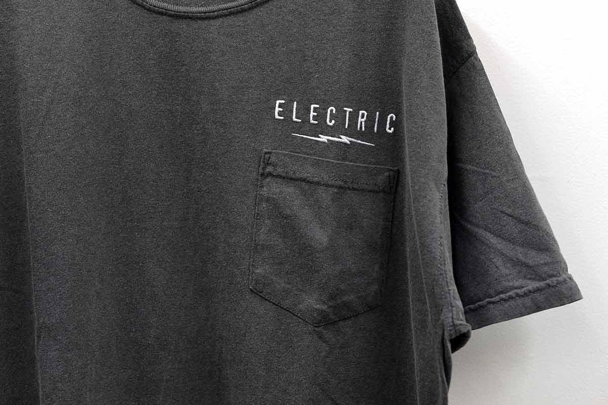 ELECTRIC エレクトリック メンズ Tシャツ E21SS01 UNDER VOLT GARMENT POCKET TEE [BLK]