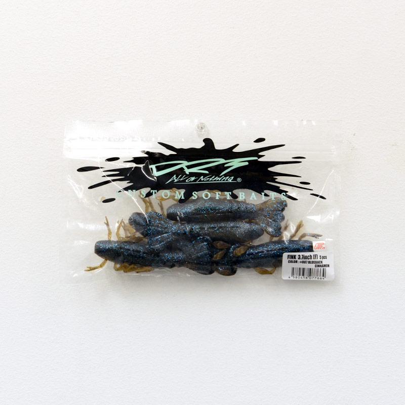 DRT ディーアールティー バス釣り バスフィッシング アングラー ワーム FINK 3.7inch [BLUEBACK CINNAMON]