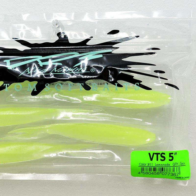 DRT ディーアールティー バス釣り バスフィッシング アングラー ワーム VTS5 5inch [LOMONADE]
