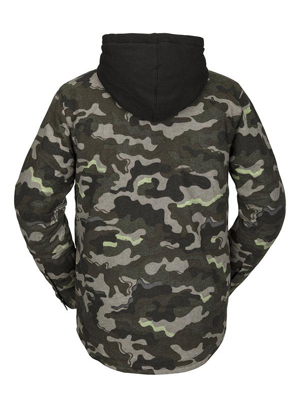【WINTER SALE 20%OFF】 VOLCOM ボルコム メンズ スノーボードアパレル フーデッドシャツジャケット G1652100 Field Ins Flannel