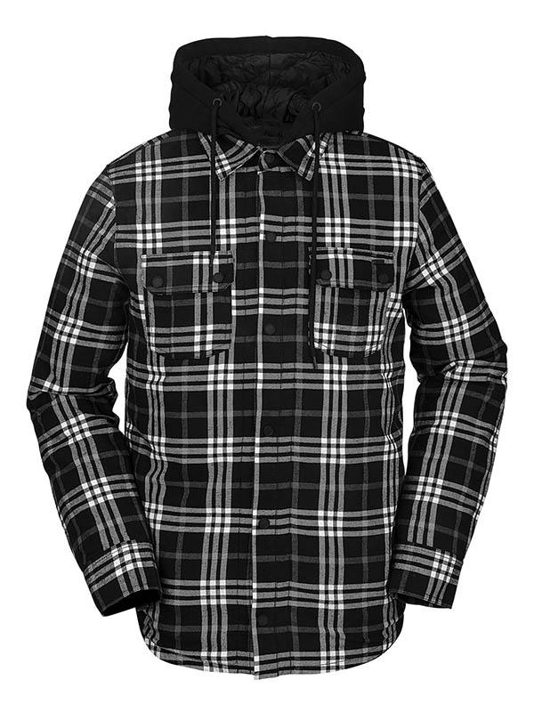 VOLCOM ボルコム メンズ スノーボードアパレル フーデッドシャツジャケット G1652100 Field Ins Flannel