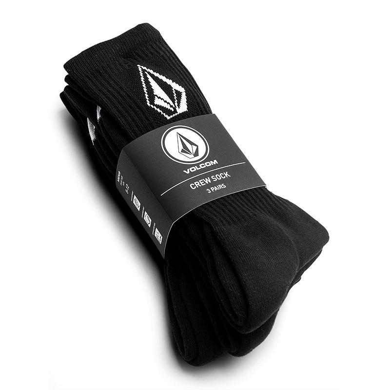VOLCOM ボルコム ソックス3足セット ロングソックス D6302004 Full Stone Sock 3PK [BLK]