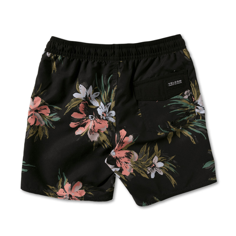 【30%OFF】 VOLCOM ボルコム キッズ(3-7才) 水着 ボードショーツ サーフパンツ Y2512101 Earthly Delight Ew Trunk Little Youth [BLK]