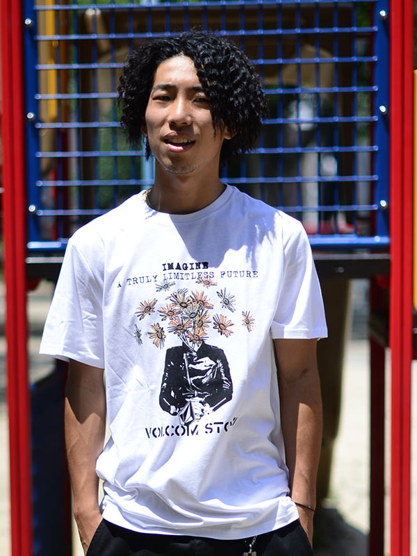 【30%OFF】 VOLCOM ボルコム メンズ アジアンフィットTシャツ 半袖 AF342004 Floral Face S/S Tee [WHT]