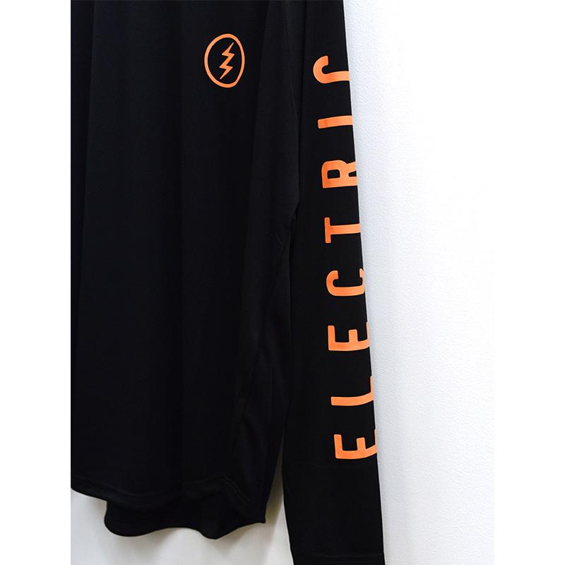 ELECTRIC エレクトリック メンズ ロングスリーブラグランTシャツ ドライロンTee E21ST01 DRY RAGLAN L/S TEE [BLK/ORG]