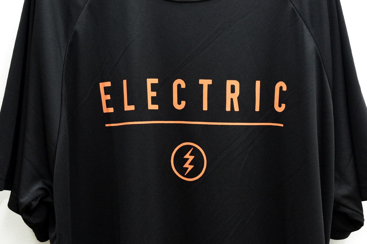 ELECTRIC エレクトリック メンズ ドライラグランTシャツ E21ST03 DRY RAGLAN TEE FRONT PRINT [BLK/ORG]