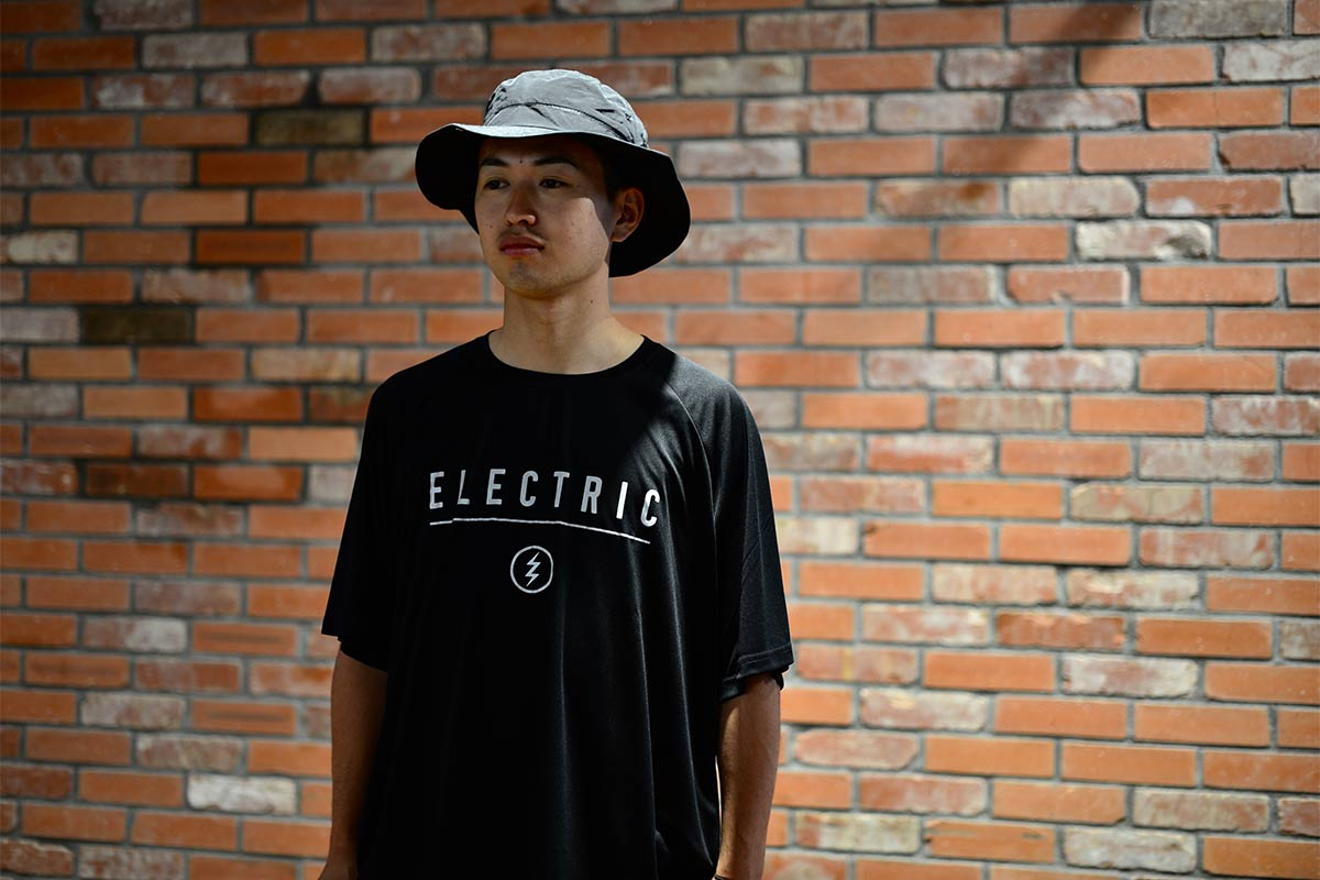 ELECTRIC エレクトリック メンズ ドライラグランTシャツ E21ST03 DRY RAGLAN TEE FRONT PRINT [BLK/REF]