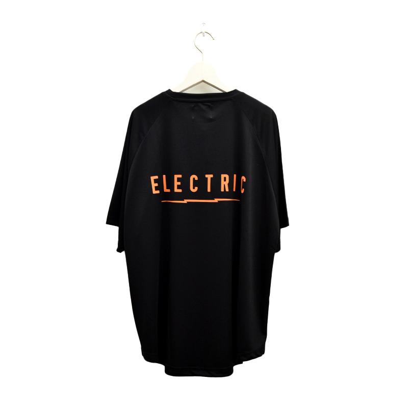 ELECTRIC エレクトリック メンズ ドライラグランTシャツ E21ST02 DRY RAGLAN TEE BACK PRINT [BLK/ORG]