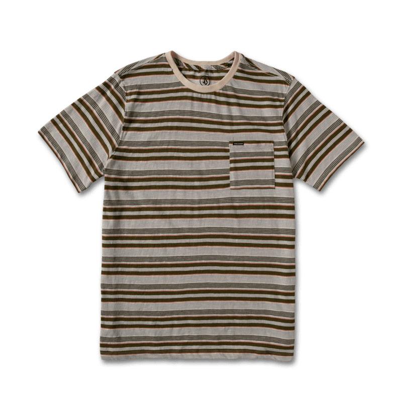 【30%OFF】 VOLCOM ボルコム ボーイズ(8-14才) ボーダーTシャツ C0112103 Wattage Stripe Crew SS Youth [OLM]