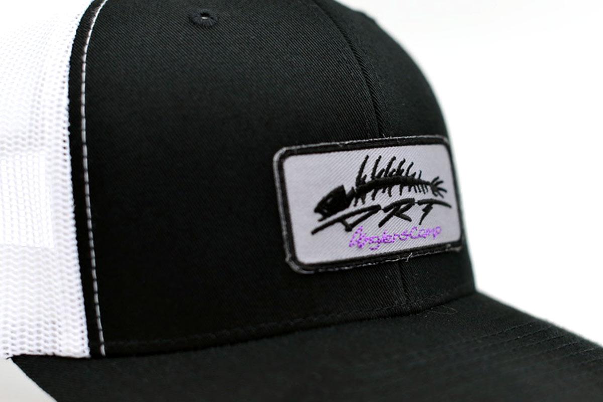 DRT ANGLERS CAMP ディーアールティー アングラーズキャンプ バスフィッシング メッシュキャップ 帽子 Mesh Cap [BLACK/WHITE]