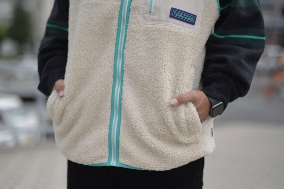【Halloween Trick Price 15%OFF】 VOLCOM ボルコム メンズ ジップフリースベスト A1832100 Muzzer Fuzzar Vest [WCG]