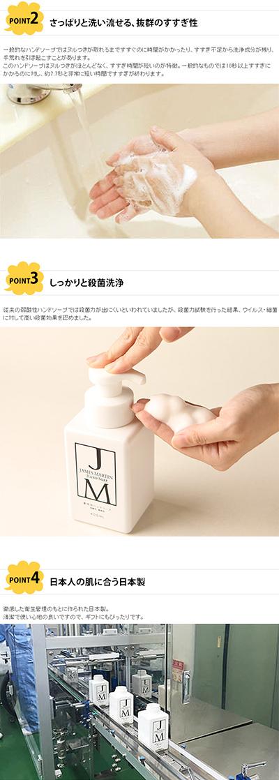 JAMES MARTIN ジェームズマーティン 薬用泡ハンドソープ 詰め替え用 5kg 【袋ラッピング対応】