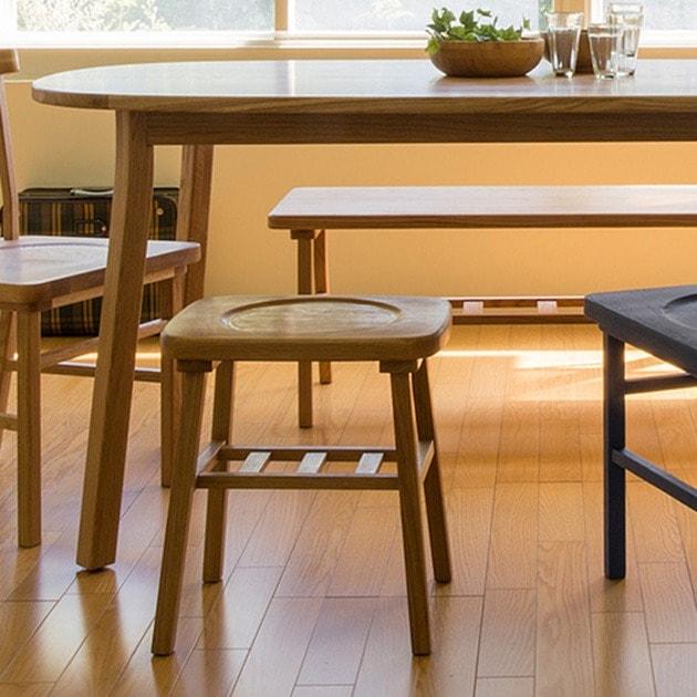 SIEVE シーヴ merge dining stool マージ ダイニングスツール(W38×D30×H42cm)