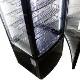 大型4面ガラス 冷蔵ショーケース(冷蔵庫) LED仕様 215L 前開き 7段(中棚6段) RCS-4G215SLHB (黒) 送料無料・1年保証