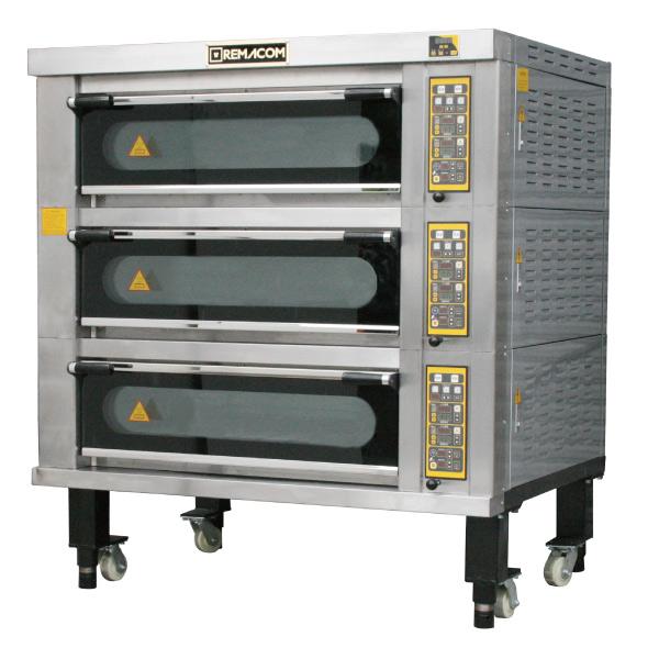 電気式デッキオーブン 幅1520mm 3段仕様(縦1横2枚差×3段) RDO-F33T【1年保証】