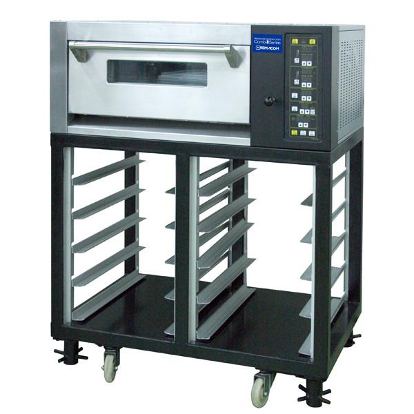 電気式デッキオーブン(横1枚差×1段)+ラック(縦1枚差×5段×2列) (単相200V) RCOS-1Y-ST 1年保証