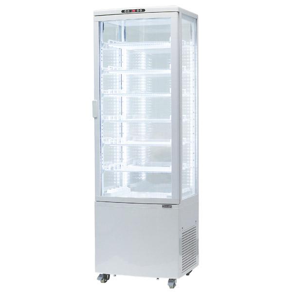 4面ガラス冷蔵ショーケース、215リットルタイプ