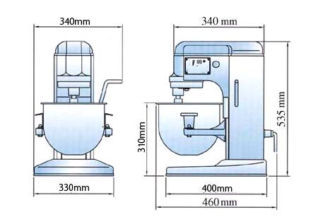 ミキサー 卓上型 10クォート RM-G10A 送料無料 1年保証