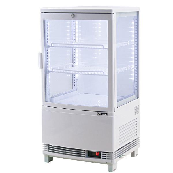 4面ガラス冷蔵ショーケース、LED仕様 63リットルタイプ