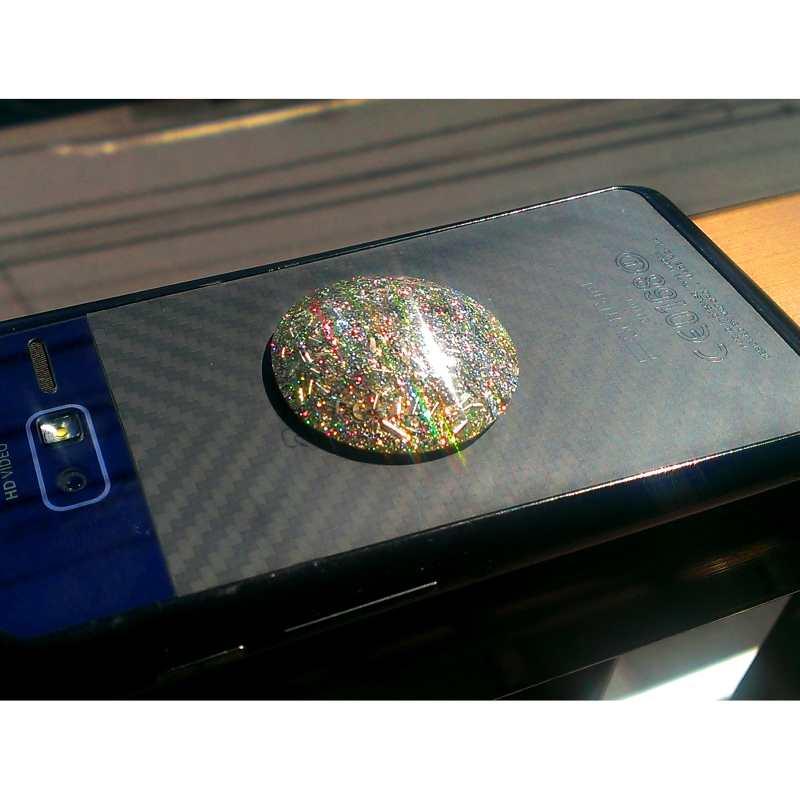 ピンクの携帯用シール 《ボヘミアンオルゴナイト》 3.5cm