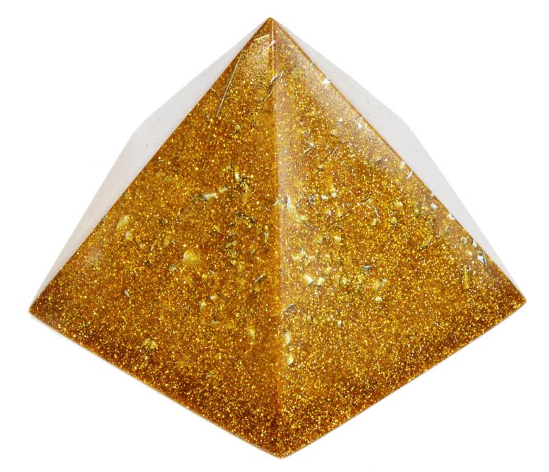 五角錐のゴールドオブジェ7.5×7cm
