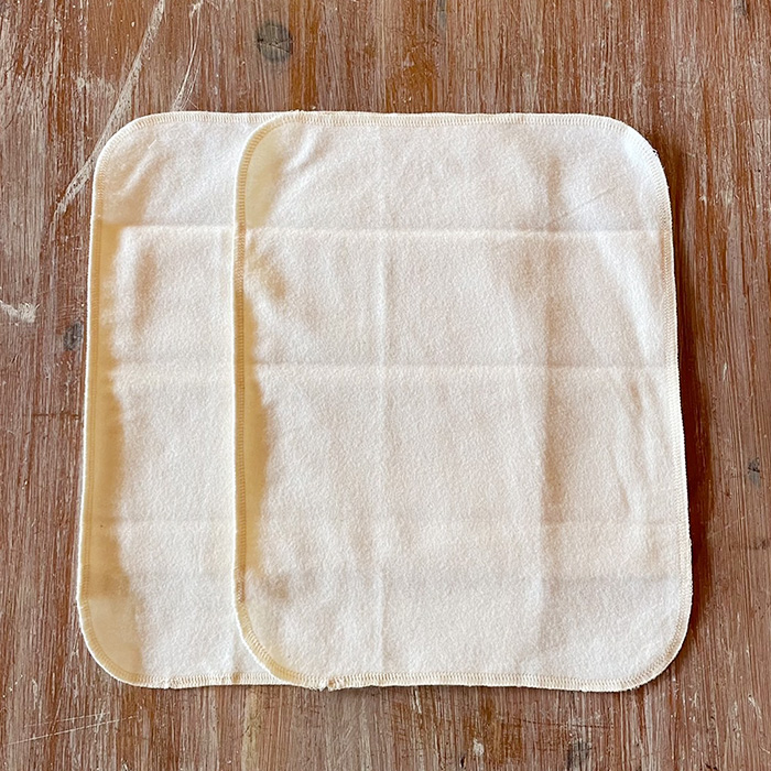 布ナプキン ホワイトラインハンカチLサイズ オーガニックコットン(ネル/ネル)
