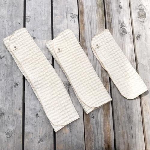 布ナプキン [多い日・夜用] オーガニック和綿ワッフル ハンカチLサイズ(リバーシブル)【ネコポス可】
